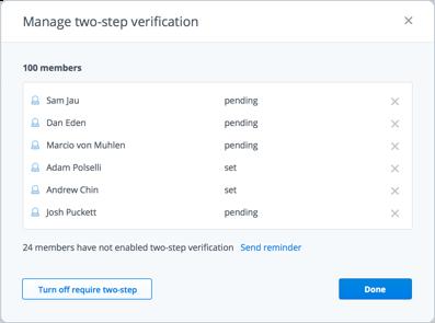 Administra la verificación de dos pasos