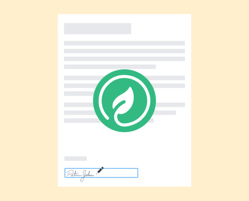An electronic signature is eco-and cost-friendly