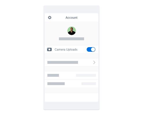 Transférez automatiquement des photos via l'application