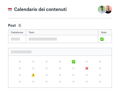 Calendario dei contenuti