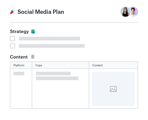 Social media strategy and content planner