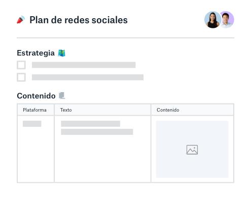 Estrategia de redes sociales y planificador de contenido
