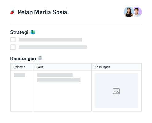 Strategi media sosial dan perancang kandungan