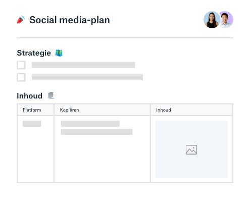 Social media strategie en contentplanner