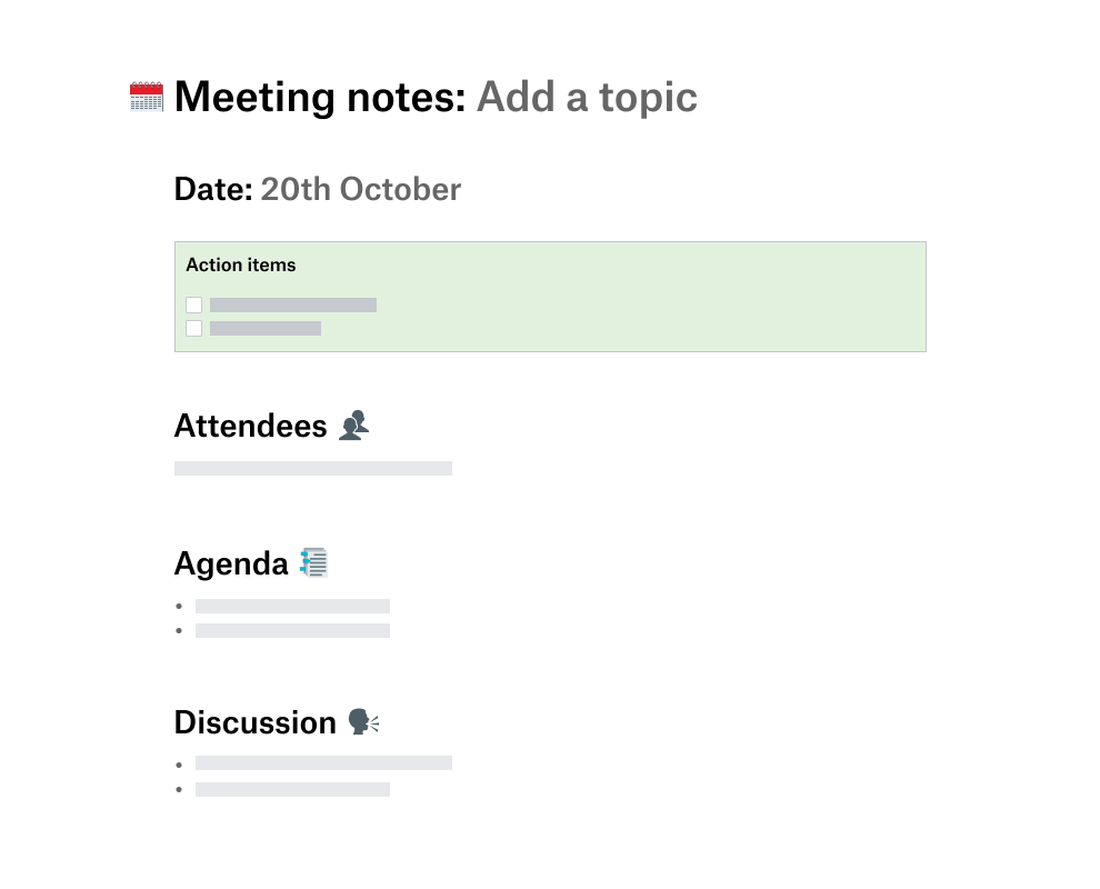 Meeting notes, minutes and agenda template   Dropbox