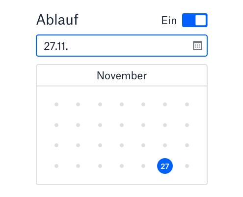 Utilisateur définissant un délai de validité pour un lien