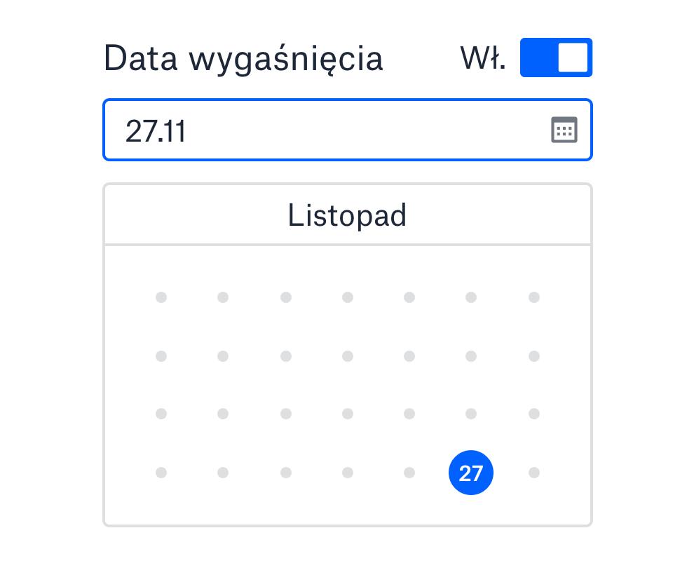 Ustawianie daty wygaśnięcia dla łącza