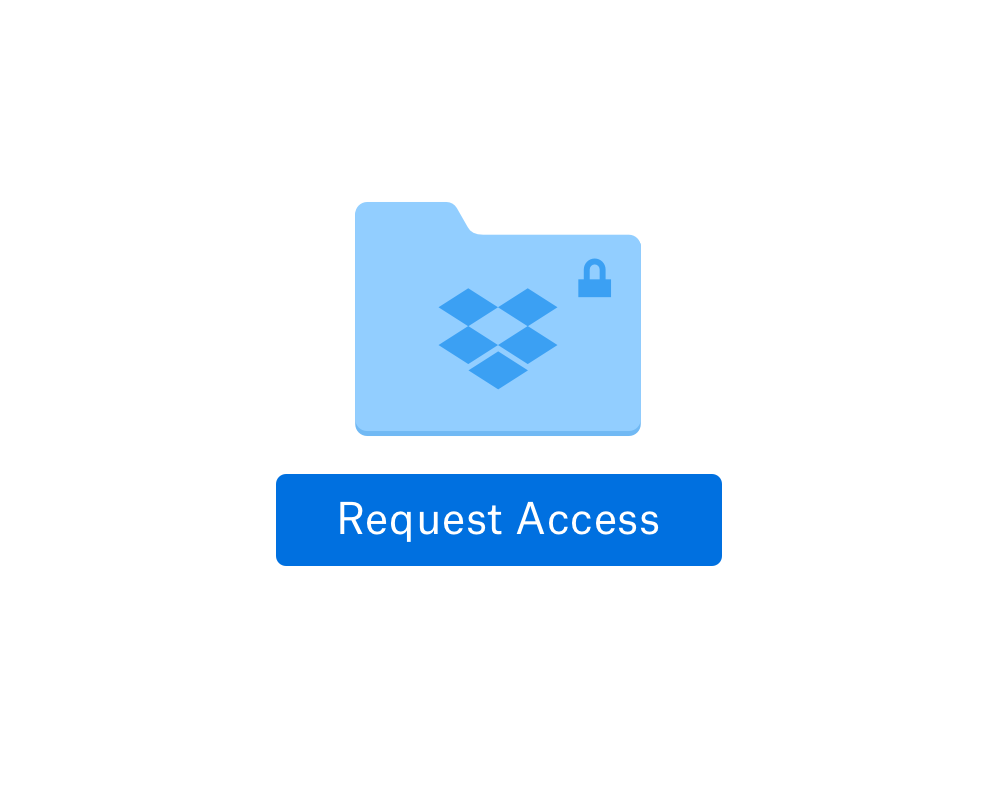 User requesting access for a shared folder