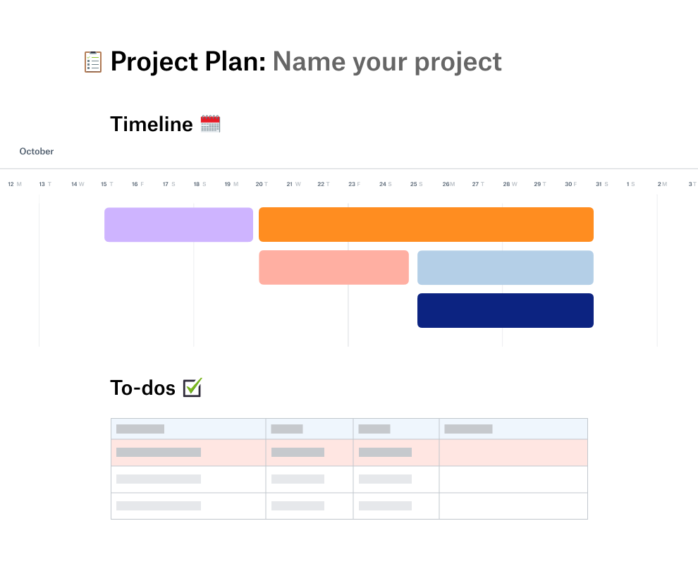 Project Planning Template   Dropbox