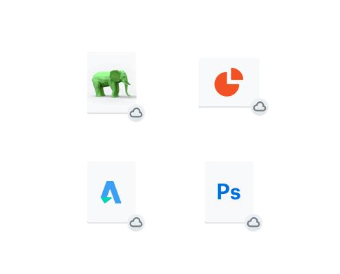 4 种不同的文件类型同步至云端