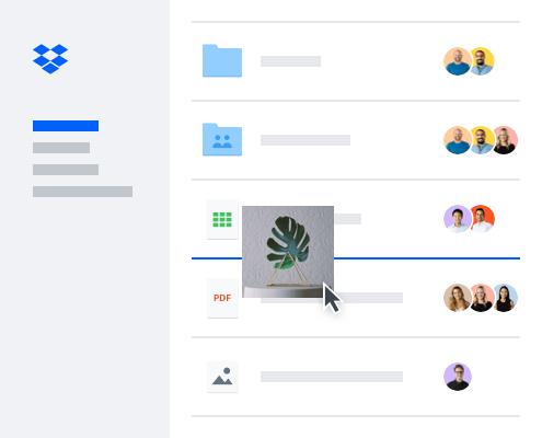 Usuario que agrega un archivo de imagen a un archivo compartido