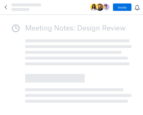 Dropbox Paper meeting note template
