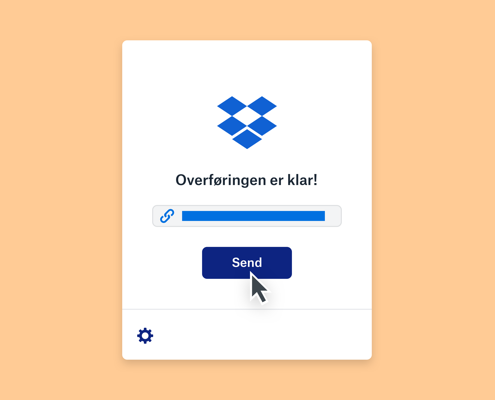 Dropbox Transfer for deling av store filer