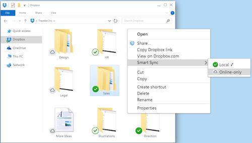 Smart Sync – Dropbox Help