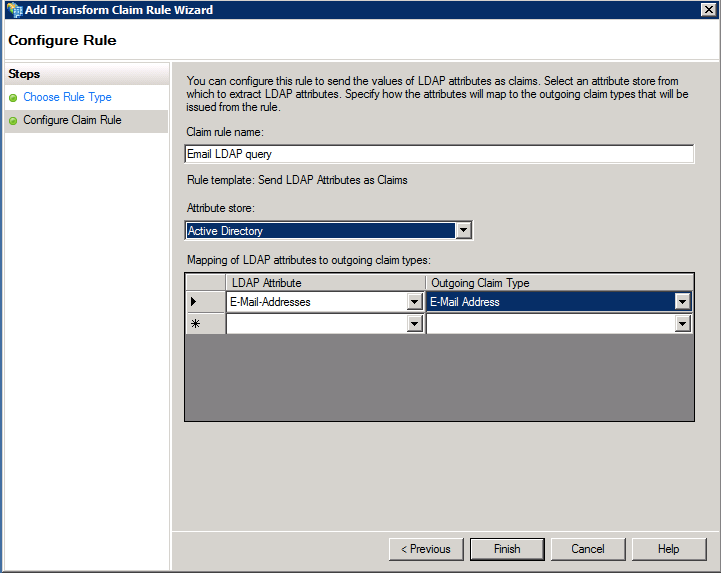 Configure Claim Rule