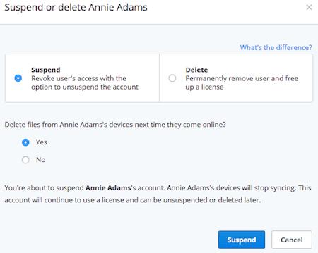 Suspend a user