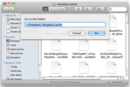 How to delete cache folder on mac