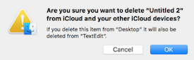 Delete from icloud