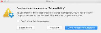 Mover la carpeta de Dropbox en Mac