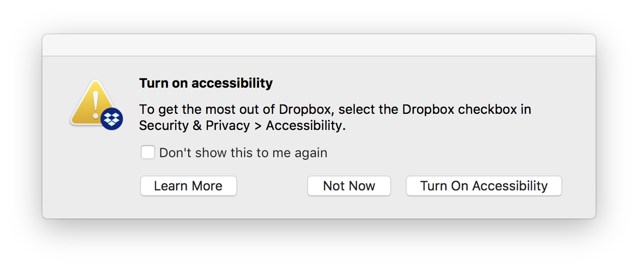 Why does Dropbox want to turn on accessibility? – Dropbox Help