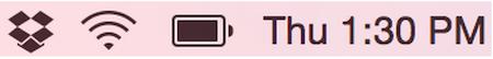 Dropbox Tray Mac Synced