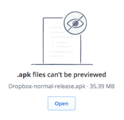 File type can't preview