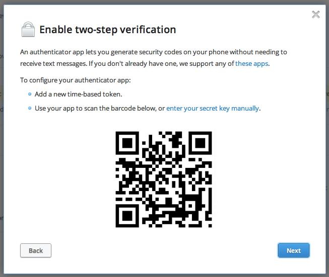 掃描條碼或手動輸入密碼金鑰
