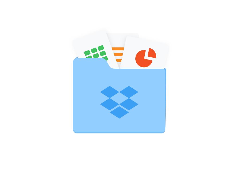 Utilisation de fichiers compressés avec Dropbox