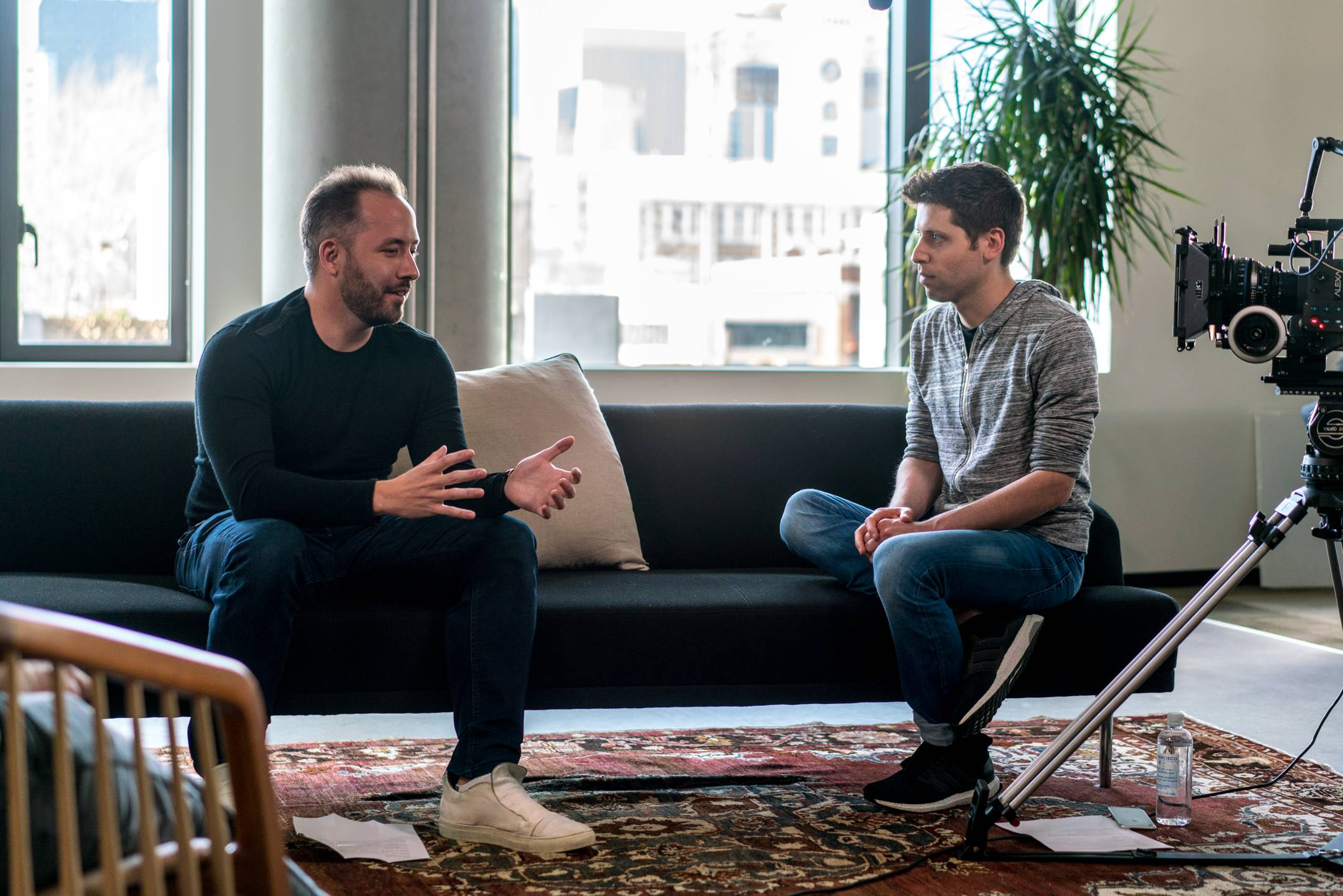 Drew Houston of Dropbox interviewed by Y Combinator's Sam Altman